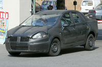 Spy photo of the Fiat Punto Sedan